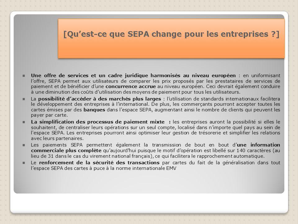 [Qu'est-ce que SEPA change pour les entreprises ]
